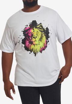 MVP Collections® Neon Lion T-Shirt,