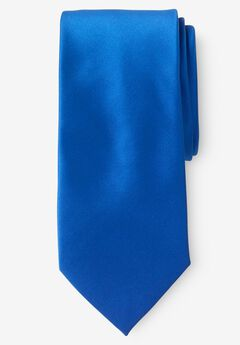 KS Signature Extra-Long Satin Tie, NEW ROYAL