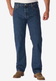 Levi's® 501® Original Fit Stretch Jeans, DARK STONEWASH