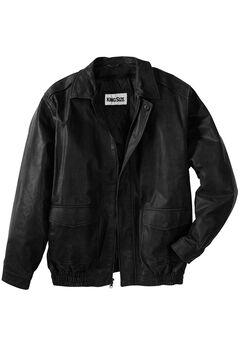 Leather Aviator Jacket,