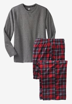 Hanes® X-Temp® Pajama Set, CHARCOAL HEATHER