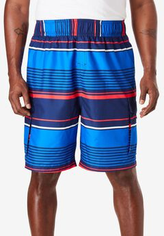 KS Island™ Printed Cargo Swim Shorts, BOARD STRIPE