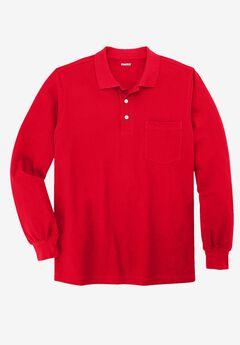 Long-sleeve Piqué Polo,