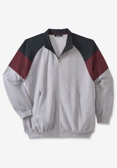 KS Sport™ Wicking Color Block Full Zip Track Jacket,