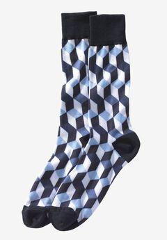 Novelty Dress Socks, BLACK BOX