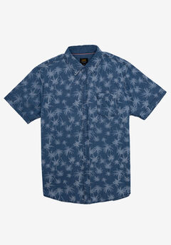 Short-Sleeve Button-Down Woven Shirt by Lee®, INDIGO BLUE