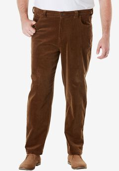 Liberty Blues® 5-Pocket Invisible Stretch Corduroy Pants, VARSITY BROWN
