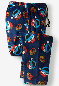 Micro-Fleece Holiday Pajama Pants, COOKIE MONSTER SANTA HATS