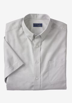 Wrinkle-Resistant Short-Sleeve Oxford Shirt by KS Signature®, LIGHT GREY