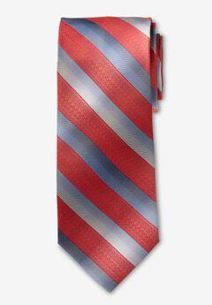 Classic Stripe Tie, DEEP RED STRIPE