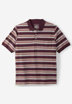 Liberty Blues® Pocket Piqué Polo Shirt, RUSSET STRIPE
