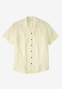 KS Island™ Tropical Rayon Short-Sleeve Shirt, CREAM