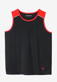 Power Wicking Tank by KS Sport™, BLACK BLAZE RED