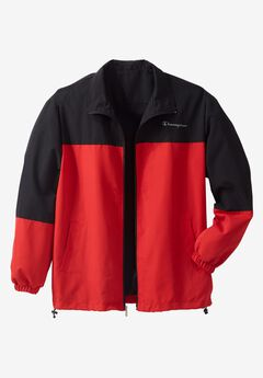 Track Jacket by Champion®, BLACK RED