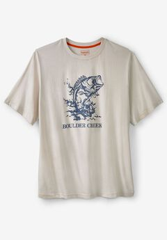 Nature Graphic Tee by Boulder Creek®, BASS FISH
