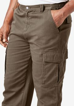Boulder Creek® Renegade Cargo Pants with Side Elastic, BARK