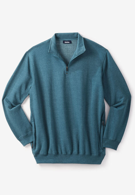 0b4f77b68 Quarter Zip-Front Fleece Jacket| Big and Tall Casual Jackets | King Size