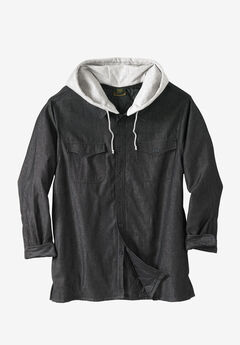 Removable Hood Shirt Jacket by Boulder Creek®,