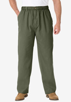 Knockarounds® Full-Elastic Waist Pants in Twill or Denim, OLIVE