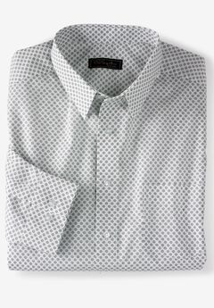 No Hassle® Long-Sleeve Dress Shirt by KS Signature®, MIDNIGHT NAVY GEO