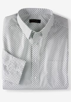 No Hassle® Long-Sleeve Dress Shirt by KS Signature®, MIDNIGHT NAVY GEO