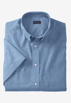 Wrinkle-Resistant Short-Sleeve Oxford Shirt by KS Signature®, ROYAL BLUE