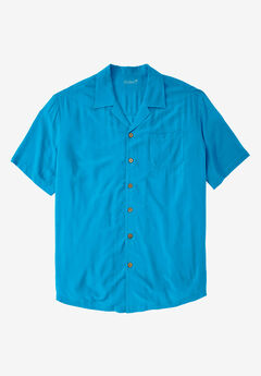 KS Island™ Tropical Rayon Short-Sleeve Shirt,