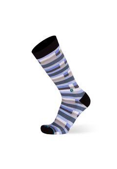 The Blue Cary (Blue Broken Lines) Socks,