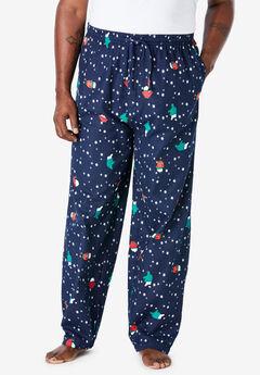 Holiday Print Flannel Pajama Pants,