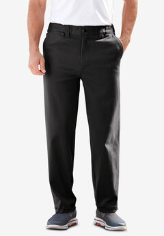 Plain Front Full Elastic Stretch Chino Pants,