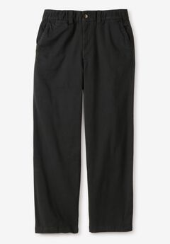 Plain Front Chino Pants,