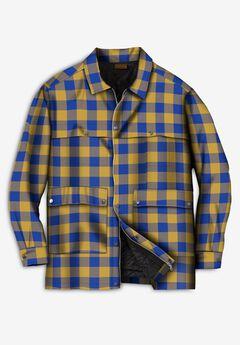 Renegade Shirt Jacket by Boulder Creek®, GOLDEN TAN BUFFALO PLAID
