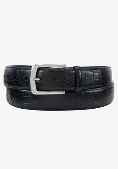Crocodile Print Leather Belt,
