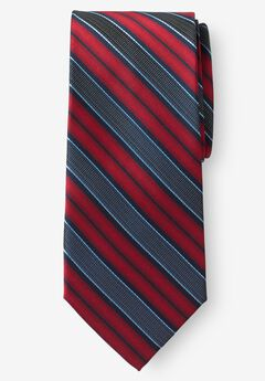 Classic Stripe Tie, TRUE RED STRIPE