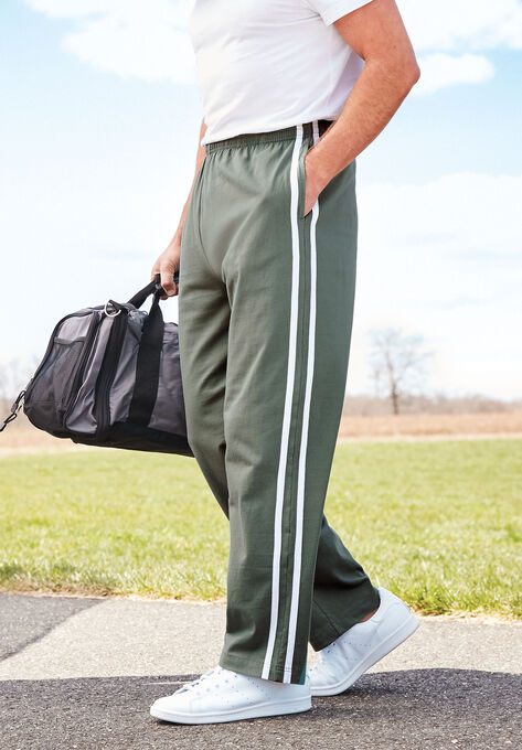 b3a499a47 Lightweight Sweat Pants with Side Stripes| Big and Tall Pants ...