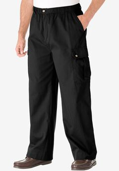 Knockarounds® Cargo Pants with Full Elastic Waist, BLACK