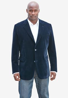 Velvet Blazer by KS Signature, NAVY