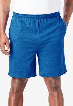 Lightweight Basic Shorts, HEATHER ROYAL BLUE
