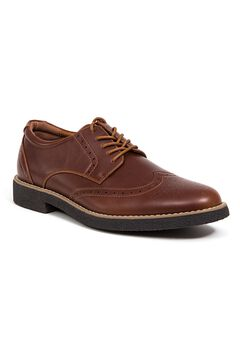 Deer Stags® Creston Comfort Wingtip Oxford Shoes with Memory Foam,