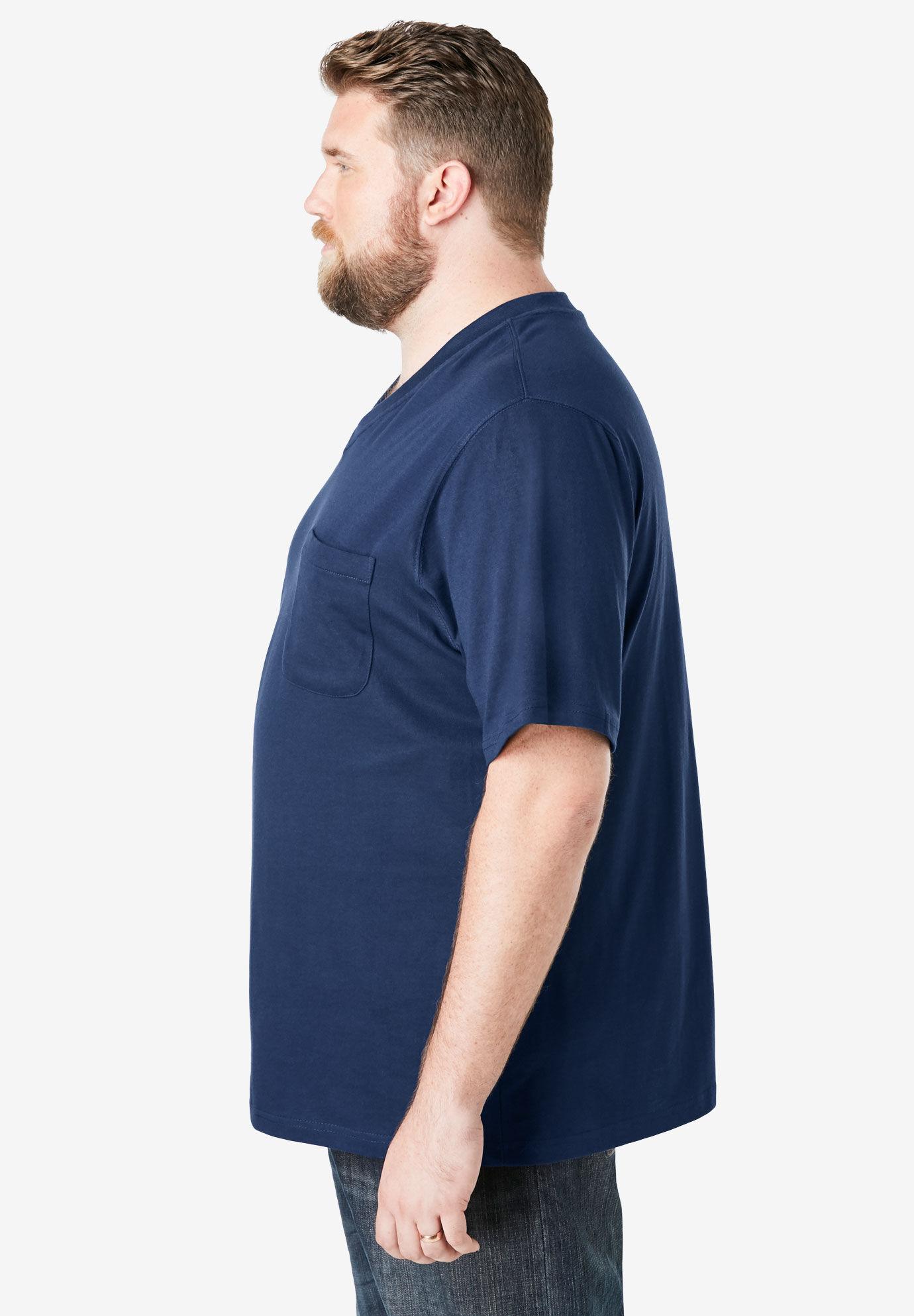 Boulder Creek Mens Big /& Tall Heavyweight Pocket V-Neck Tee