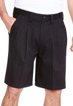 Wrinkle-Free Expandable Waist Pleat Front Shorts,