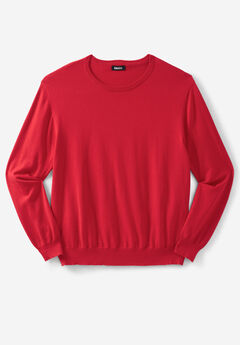 Pima Crewneck Sweater, TRUE RED