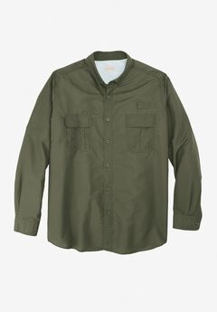 Off-Shore Long-Sleeve Sport Shirt by Boulder Creek®, OLIVE