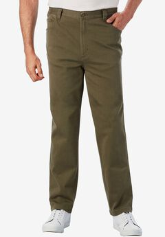 Liberty Blues® Relaxed Fit 5-Pocket Stretch Jeans, OLIVE BRUSH