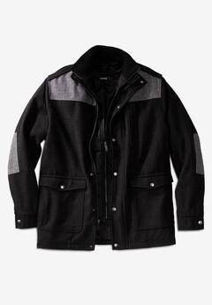 Wool Combat Jacket, BLACK