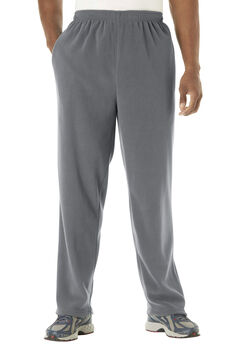 Open-Bottom Fleece Sweatpants,