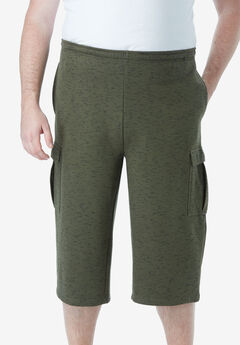 Fleece Judo Shorts, OLIVE MARL