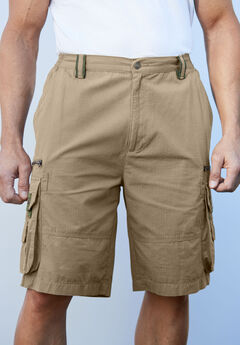 Boulder Creek® Ripstop Cargo Shorts, DARK KHAKI