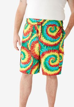 KS Island™ Printed Cargo Swim Shorts, MULTI TIE DYE