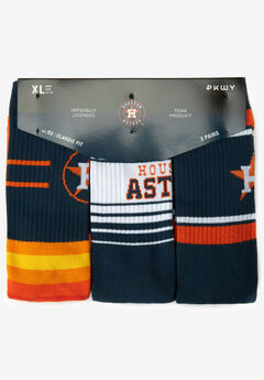 MLB 3-Pack Socks, HOUSTON ASTROS